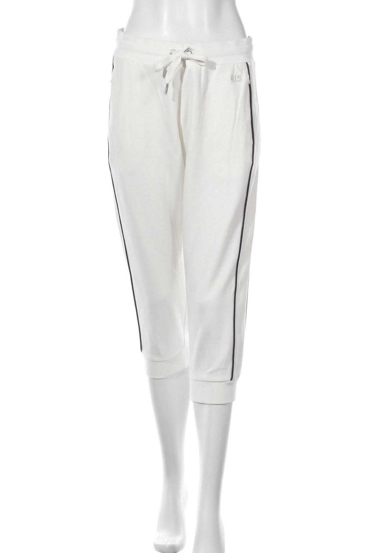 Дамско спортно долнище H.i.s, Размер L, Цвят Бял, 60% памук, 40% полиестер, Цена 23,40лв.