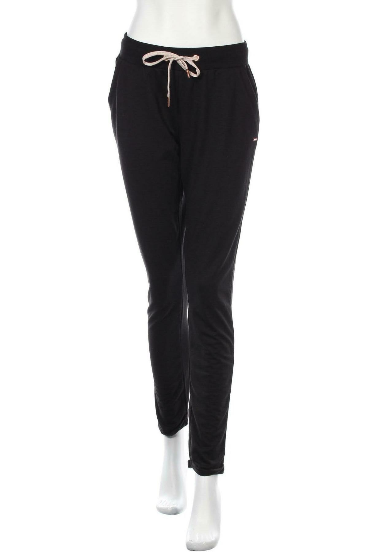 Дамско спортно долнище Lascana, Размер S, Цвят Черен, 50% памук, 50% полиестер, Цена 25,37лв.