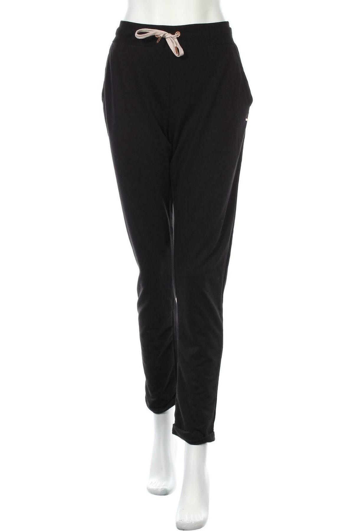 Дамско спортно долнище Lascana, Размер M, Цвят Черен, 50% памук, 50% полиестер, Цена 25,37лв.