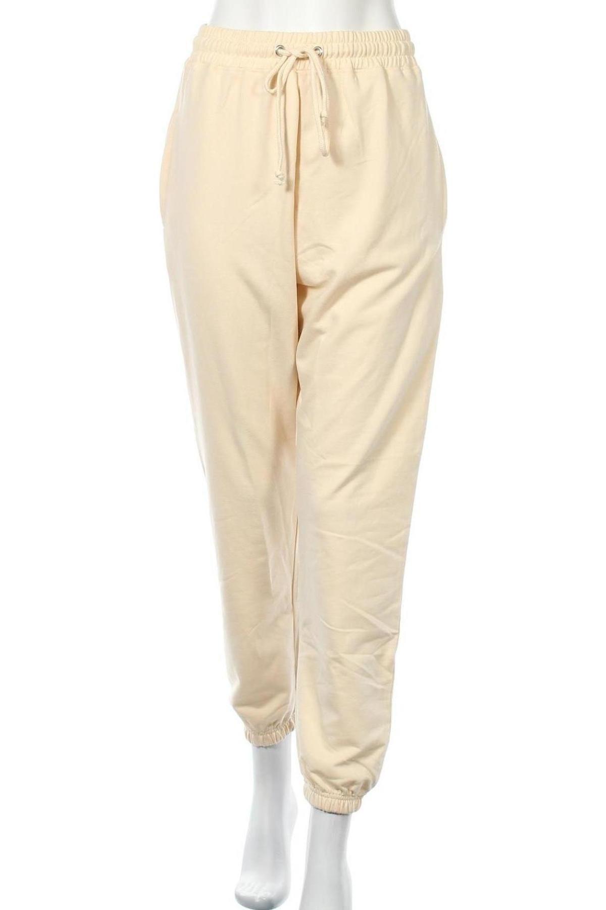 Дамско спортно долнище Missguided, Размер S, Цвят Жълт, 60% памук, 40% полиестер, Цена 25,30лв.
