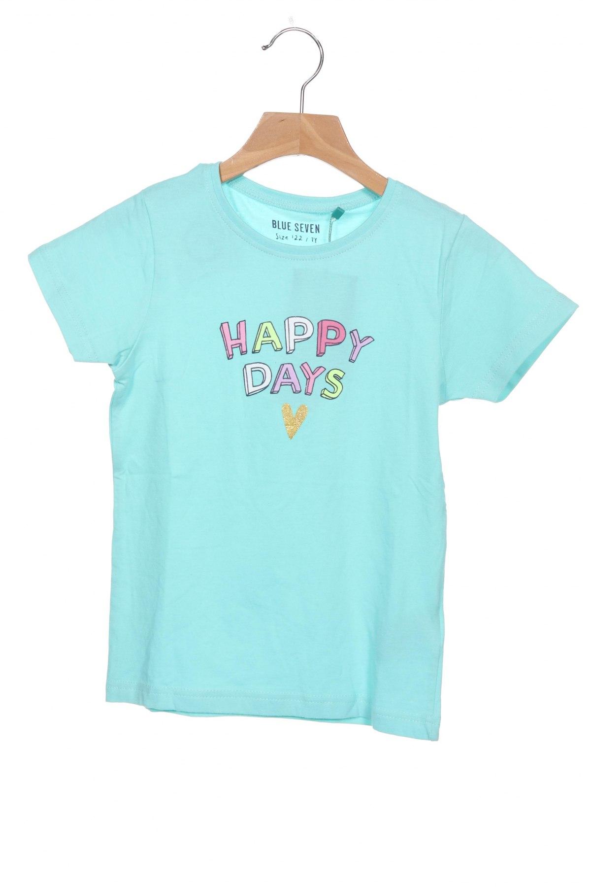 Детска тениска Blue Seven, Размер 6-7y/ 122-128 см, Цвят Зелен, 95% памук, 5% еластан, Цена 21,00лв.
