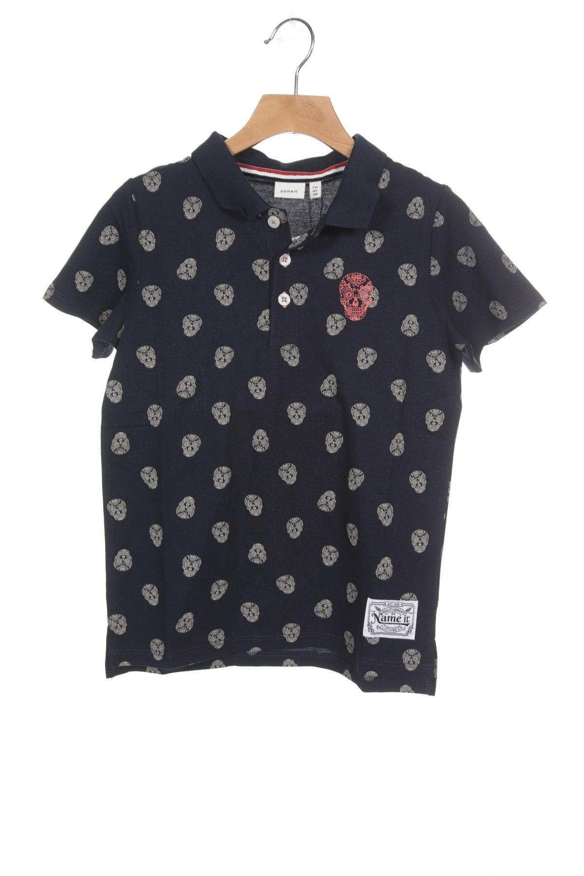 Детска тениска Name It, Размер 6-7y/ 122-128 см, Цвят Син, Памук, Цена 19,50лв.