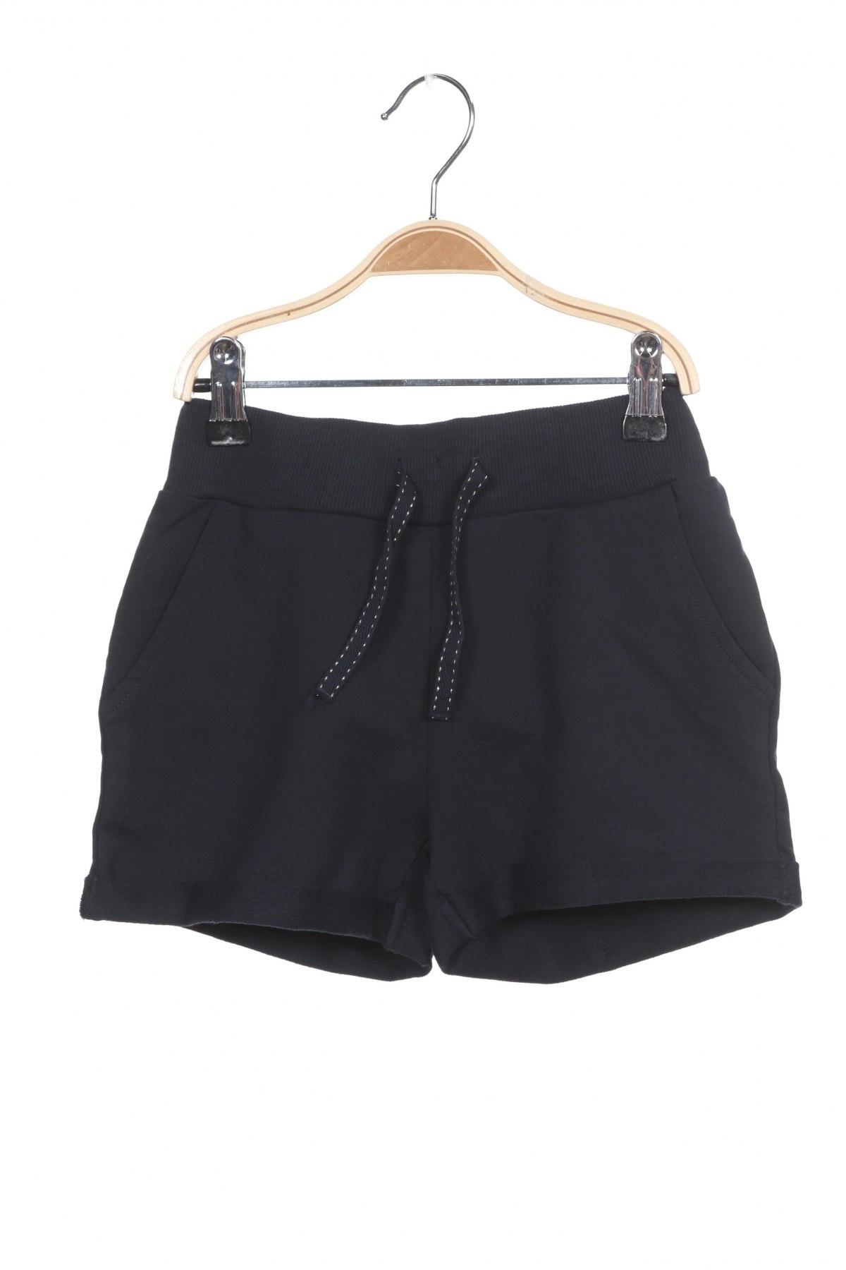 Pantaloni scurți pentru copii Name It, Mărime 7-8y/ 128-134 cm, Culoare Albastru, 95% bumbac, 5% elastan, Preț 88,82 Lei