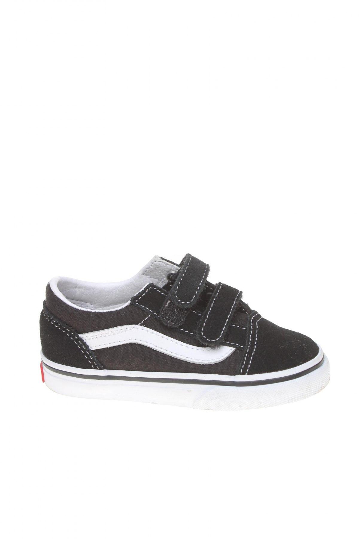 Детски обувки Vans, Размер 24, Цвят Черен, Текстил, естествен велур, естествена кожа, Цена 46,87лв.
