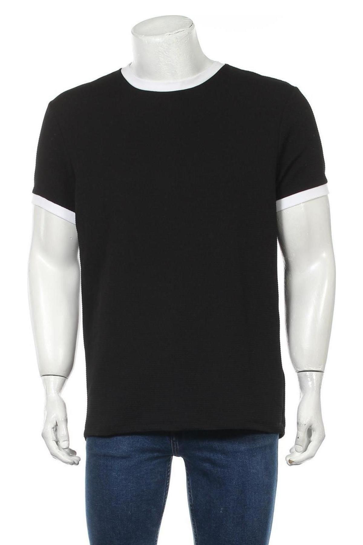 Мъжка блуза Topman, Размер L, Цвят Черен, 96% полиестер, 4% еластан, Цена 31,50лв.