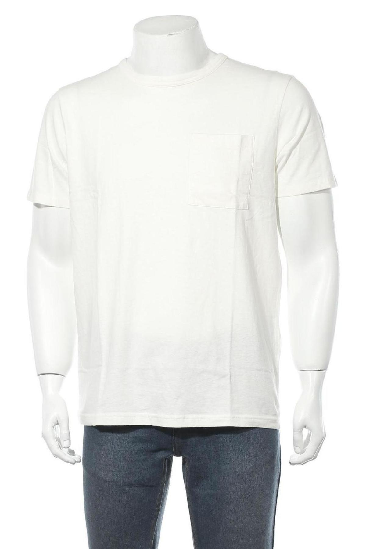 Мъжка тениска Selected Homme, Размер L, Цвят Бял, 85% памук, 15% лен, Цена 29,25лв.