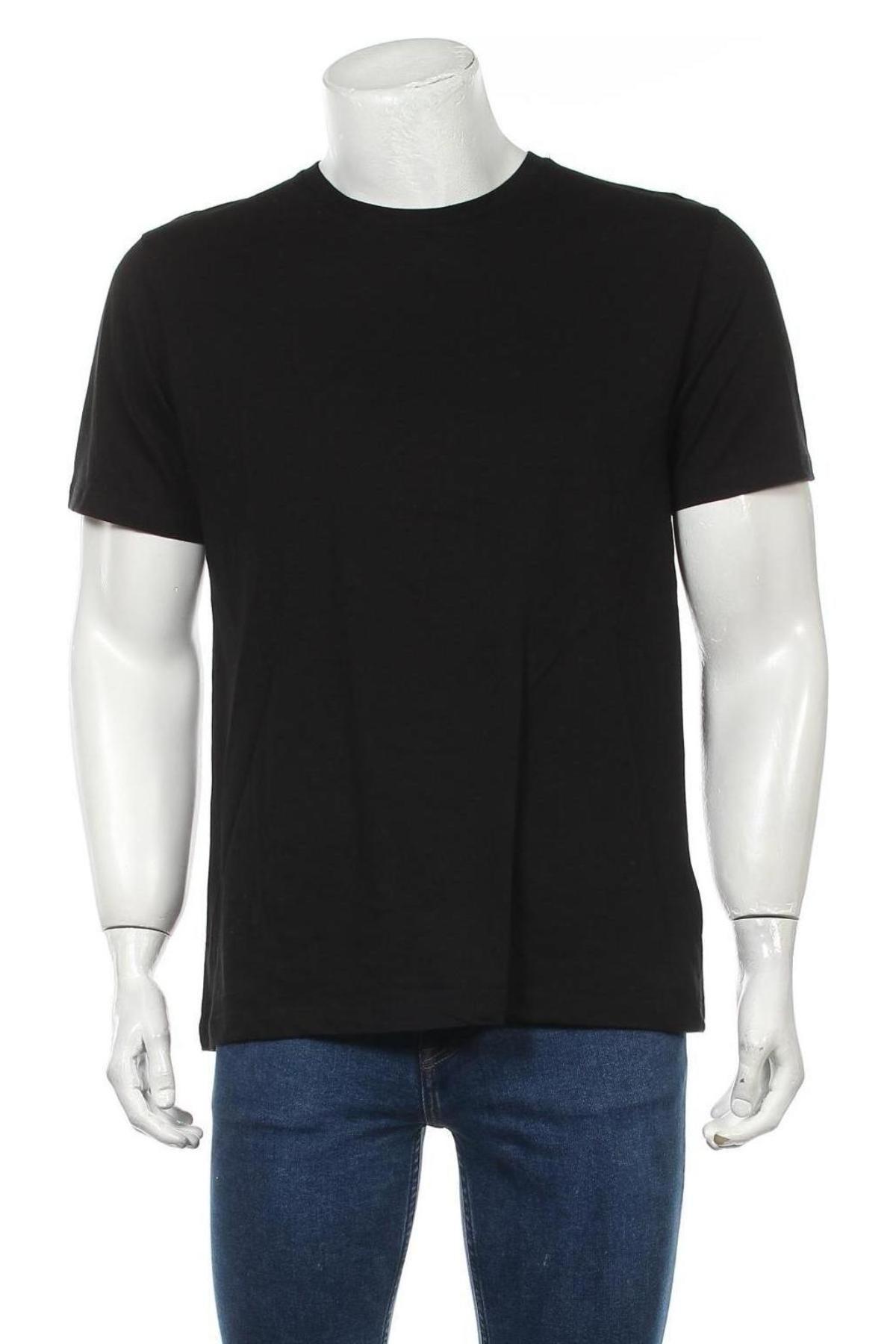 Мъжка тениска Topman, Размер M, Цвят Черен, Памук, Цена 21,75лв.