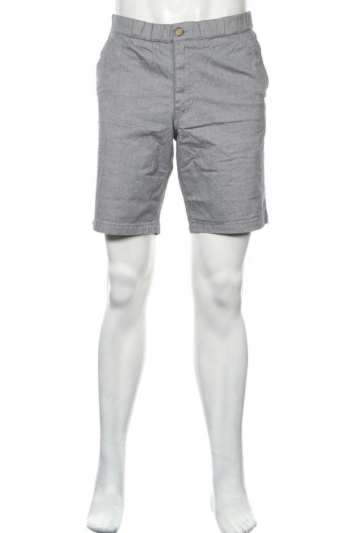 Мъжки къс панталон Selected Homme, Размер L, Цвят Сив, 97% памук, 3% еластан, Цена 66,75лв.