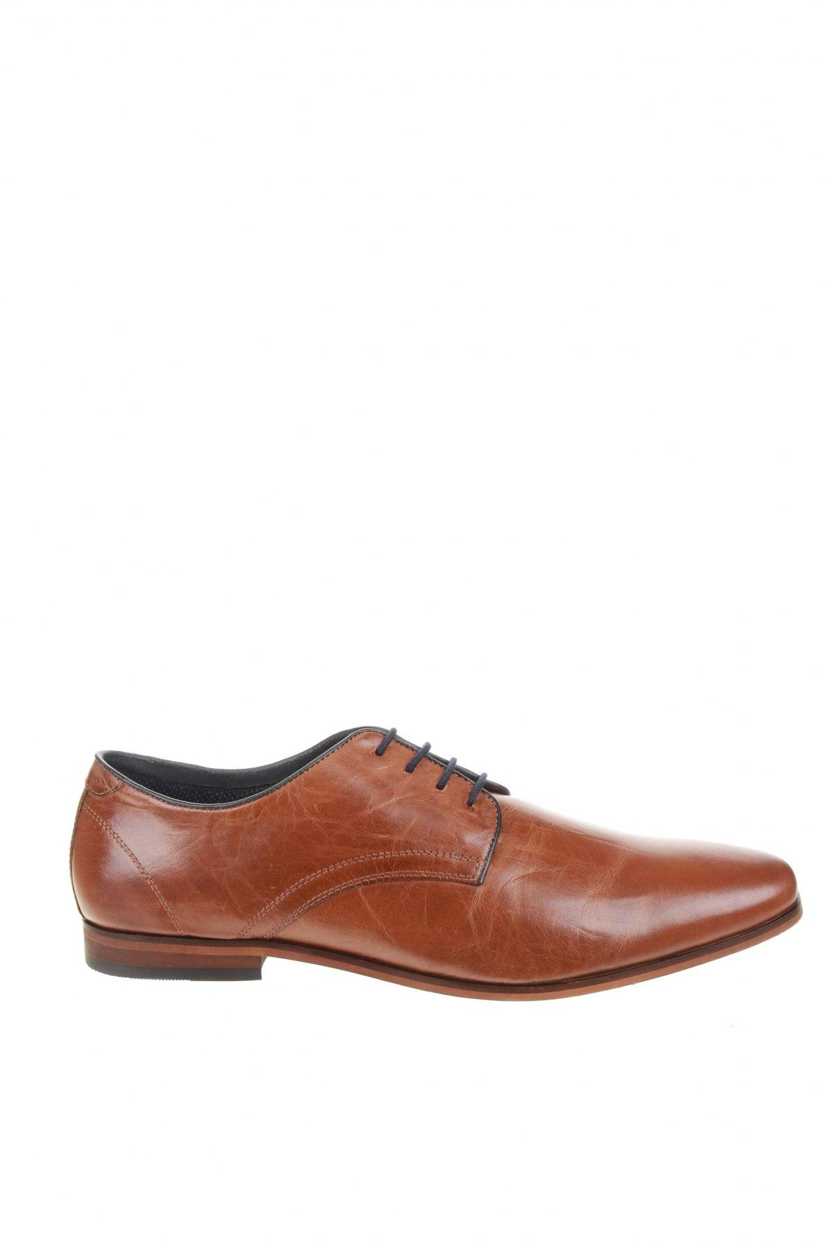 Мъжки обувки Pier One, Размер 45, Цвят Кафяв, Естествена кожа, Цена 73,67лв.
