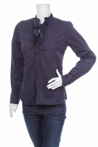 Γυναικείο πουκάμισο Jobis, Μέγεθος M, Χρώμα Μπλέ, 97% βαμβάκι, 3% ελαστάνη, Τιμή 14,43€