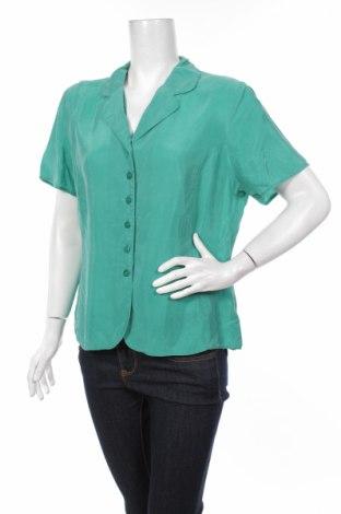 Γυναικείο πουκάμισο St. Michael Marks & Spencer, Μέγεθος XL, Χρώμα Πράσινο, Χαλκαμμωνία, Τιμή 17,42€