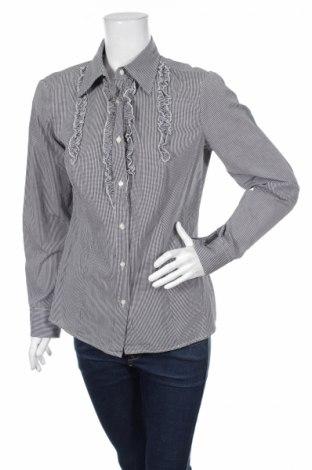 Γυναικείο πουκάμισο United Colors Of Benetton, Μέγεθος M, Χρώμα Μαύρο, 100% βαμβάκι, Τιμή 17,94€