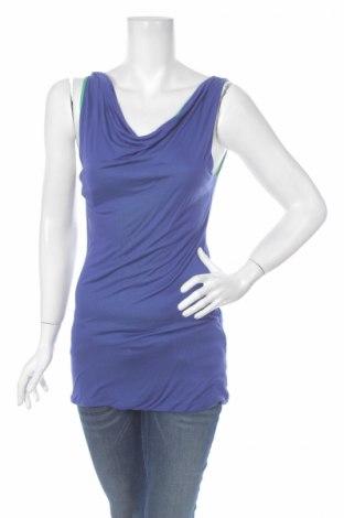 Γυναικείο αμάνικο μπλουζάκι Blacky Dress, Μέγεθος S, Χρώμα Μπλέ, Μοντάλ, Τιμή 4,64€
