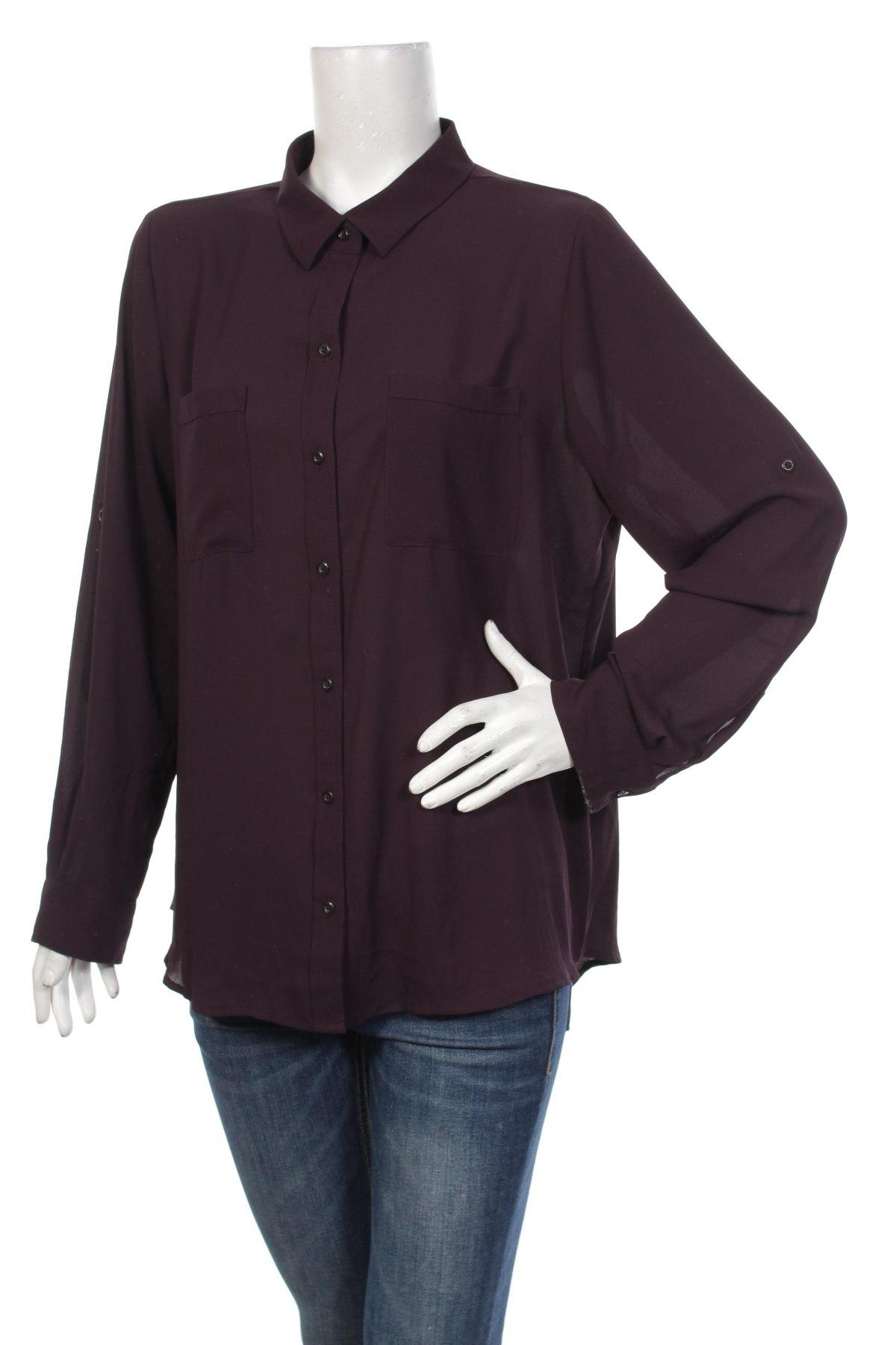Γυναικείο πουκάμισο Apt.9, Μέγεθος XL, Χρώμα Βιολετί, Πολυεστέρας, Τιμή 17,94€