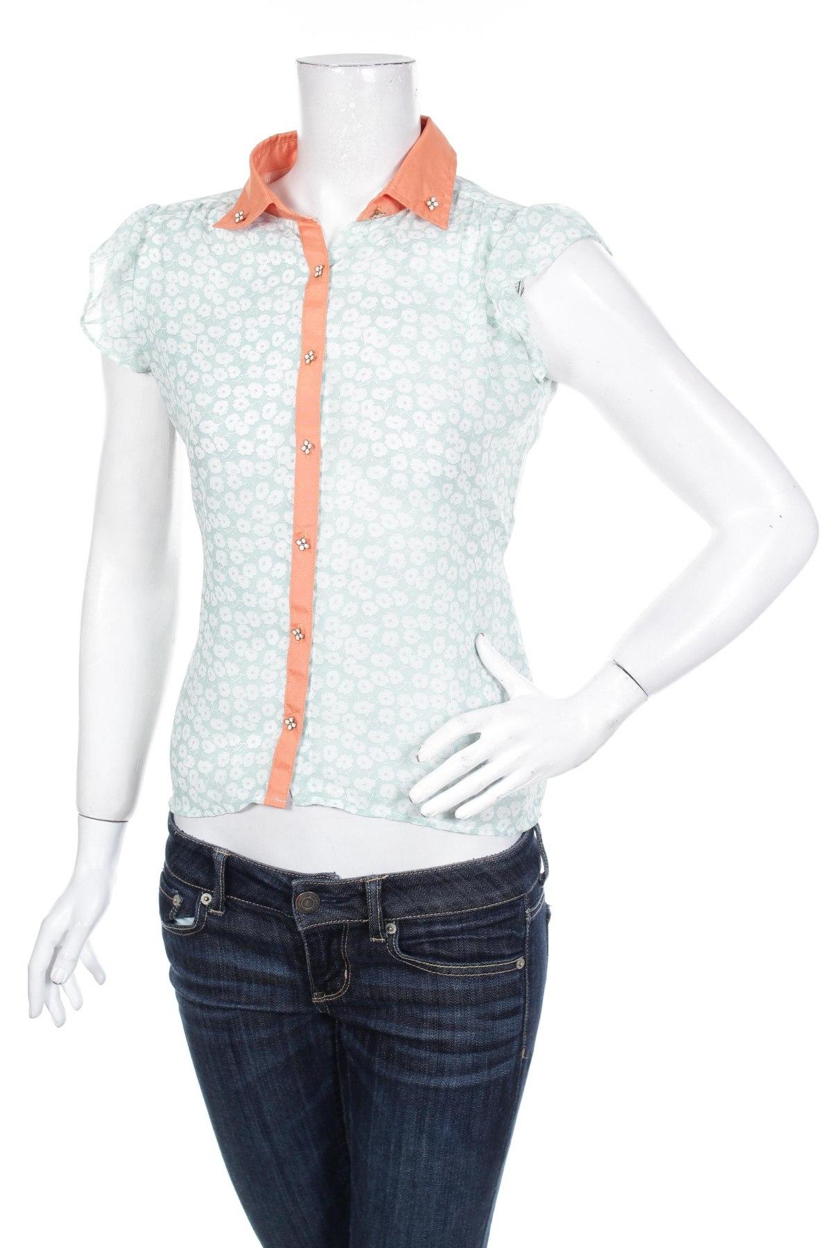 Γυναικείο πουκάμισο Yumi, Μέγεθος S, Χρώμα Μπλέ, Πολυεστέρας, Τιμή 10,82€