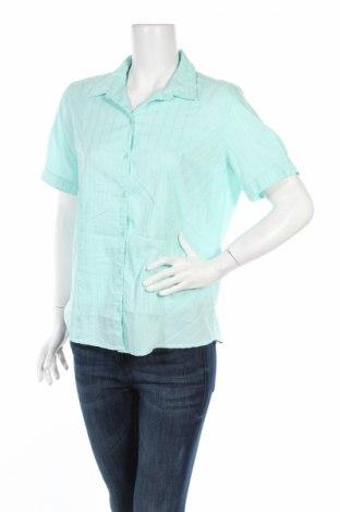 Дамска риза Charles Vogele, Размер L, Цвят Зелен, 60% памук, 36% полиестер, 4% еластан, Цена 4,50лв.