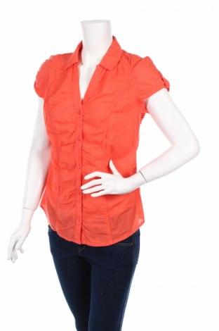 Дамска риза Flame, Размер M, Цвят Оранжев, Памук, Цена 4,00лв.