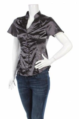 Дамска риза Laura Scott, Размер XS, Цвят Сив, 95% полиестер, 5% еластан, Цена 4,50лв.