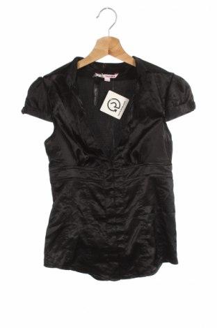 Дамска риза Tally Weijl, Размер S, Цвят Черен, 94% полиестер, 6% еластан, Цена 3,50лв.