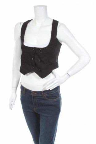 Дамски елек Tally Weijl, Размер M, Цвят Черен, 98% памук, 2% еластан, Цена 5,45лв.