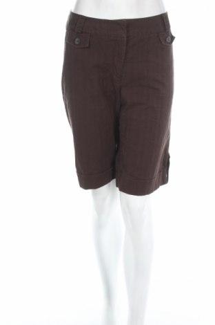 Γυναικείο κοντό παντελόνι Carole Little, Μέγεθος M, Χρώμα Καφέ, 97% βαμβάκι, 3% ελαστάνη, Τιμή 3,96€