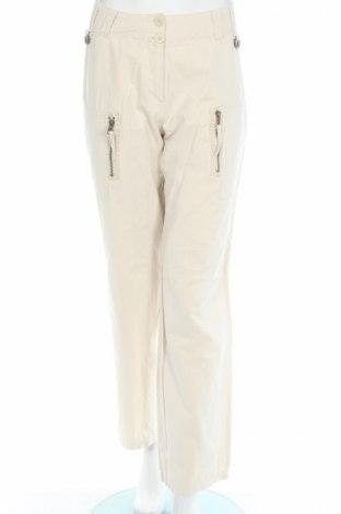 Дамски панталон My Own, Размер M, Цвят Бежов, 40% памук, 40% полиестер, 20% полиамид, Цена 6,40лв.