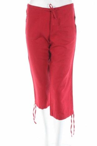 Дамски панталон Teddy's, Размер S, Цвят Червен, 55% лен, 45% памук, Цена 7,00лв.