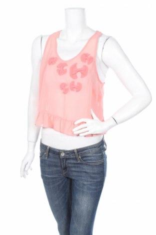 Γυναικείο αμάνικο μπλουζάκι New Look, Μέγεθος L, Χρώμα Ρόζ , Πολυεστέρας, Τιμή 2,71€