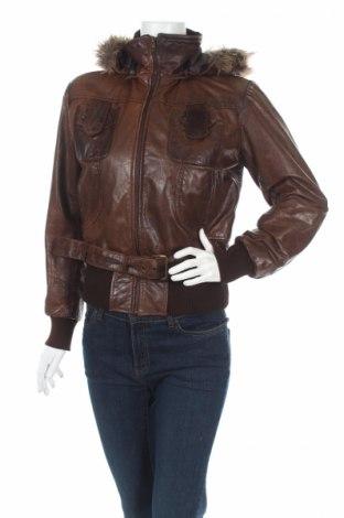Γυναικείο δερμάτινο μπουφάν Superior, Μέγεθος S, Χρώμα Καφέ, Γνήσιο δέρμα, Τιμή 42,35€