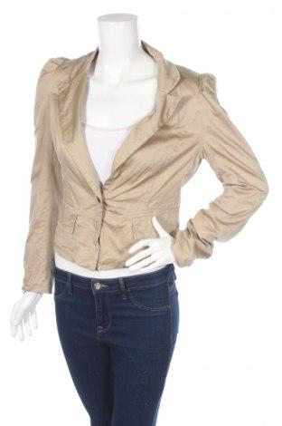 Дамско сако Attentif, Размер XS, Цвят Бежов, 97% памук, 3% еластан, Цена 5,72лв.