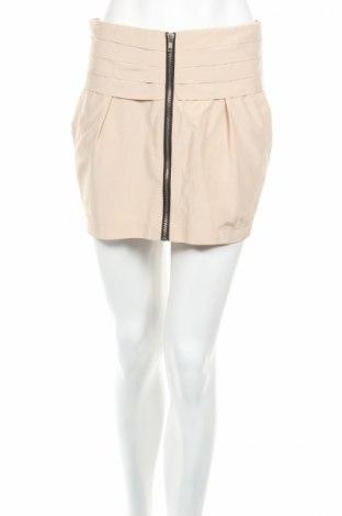 Пола Gina Tricot, Размер S, Цвят Бежов, 56% памук, 44% полиестер, Цена 6,00лв.