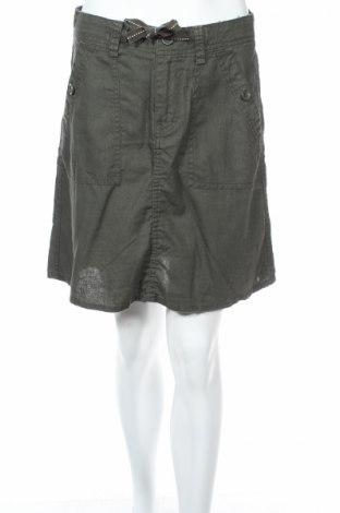 Пола H&M L.o.g.g, Размер S, Цвят Зелен, 55% лен, 45% памук, Цена 6,50лв.