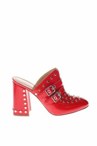 Papuče Twin-Set Simona Barbieri, Veľkosť 37, Farba Červená, Pravá koža , Cena  138,66€