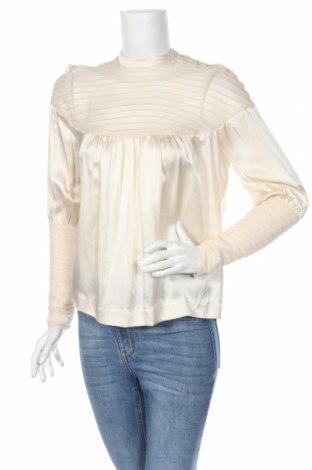 Дамска блуза By Malene Birger, Размер S, Цвят Екрю, Коприна, Цена 96,00лв.