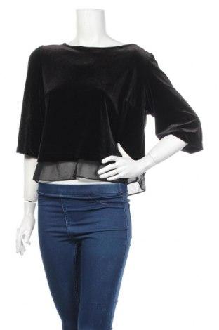 Дамска блуза River Island, Размер L, Цвят Черен, 3% полиестер, 7% еластан, Цена 19,55лв.