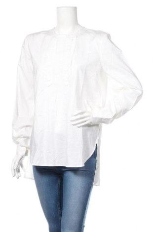 Bluzka damska Sisley, Rozmiar L, Kolor Biały, 70% bawełna, 30% tencel, Cena 87,00zł
