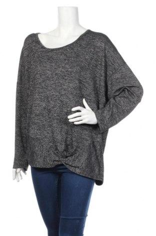 Дамска блуза Vrs Woman, Размер XXL, Цвят Черен, 68% полиестер, 28% вискоза, 4% еластан, Цена 16,46лв.