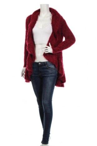 Дамска жилетка Ac, Размер S, Цвят Червен, 70% акрил, 30% памук, Цена 28,22лв.