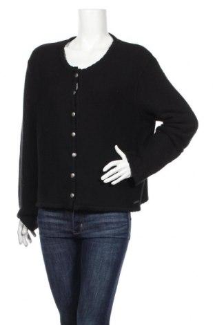 Γυναικεία ζακέτα Distler, Μέγεθος XL, Χρώμα Μαύρο, 50%ακρυλικό, 50% βαμβάκι, Τιμή 17,54€