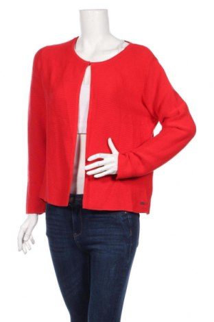 Cardigan de damă Tom Tailor, Mărime XL, Culoare Roșu, Bumbac, Preț 111,79 Lei