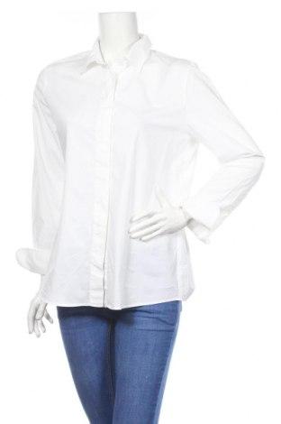 Дамска риза Marc Cain, Размер XL, Цвят Бял, 97% памук, 3% еластан, Цена 121,72лв.