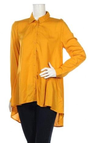 Дамска риза Tom Tailor, Размер M, Цвят Жълт, Вискоза, Цена 35,28лв.