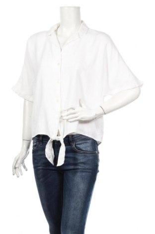 Dámska košeľa  Tom Tailor, Veľkosť S, Farba Biela, 70% viskóza, 30% ľan, Cena  26,80€
