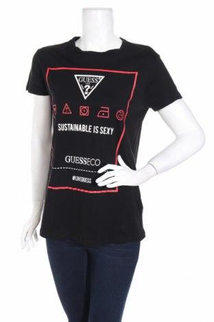 Γυναικείο t-shirt Guess, Μέγεθος S, Χρώμα Μαύρο, Βαμβάκι, Τιμή 28,14€