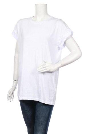 Γυναικείο t-shirt MSCH, Μέγεθος L, Χρώμα Λευκό, Βαμβάκι, Τιμή 12,62€