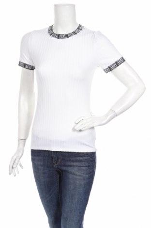 Γυναικείο t-shirt River Island, Μέγεθος S, Χρώμα Λευκό, 95% πολυεστέρας, 5% ελαστάνη, Τιμή 12,62€