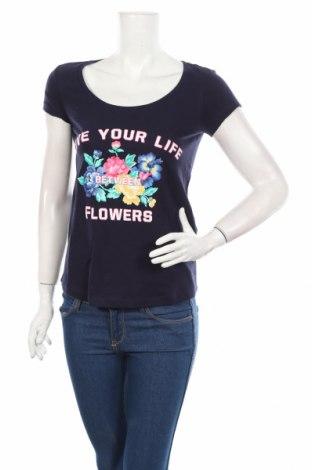 Dámske tričko Springfield, Veľkosť S, Farba Modrá, Bavlna, Cena  11,87€