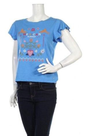 Dámske tričko Tom Tailor, Veľkosť S, Farba Modrá, Bavlna, Cena  14,47€