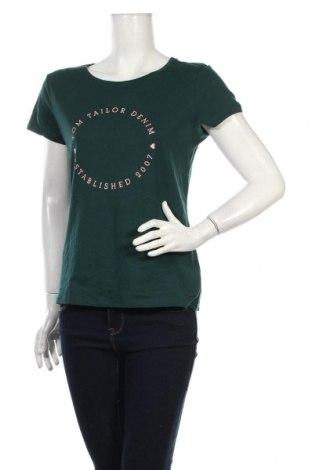 Dámske tričko Tom Tailor, Veľkosť L, Farba Zelená, Bavlna, Cena  20,10€