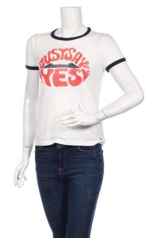 Dámske tričko Tom Tailor, Veľkosť XS, Farba Biela, 3% polyester, 33% viskóza, 4% elastan, Cena  20,10€